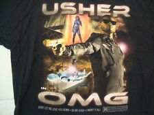Usher Singer In OMG Baby Let Me Love You Down Concert Tour Black T Shirt Size XL