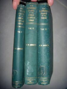 Botanique, Afrique, Soudan: The Flowering Plants, 3 Vol, 1950, figures, BE