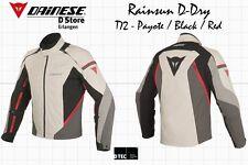 NEW DAINESE G. RAINSUN MENS D-DRY JACKET PEYOTE BLACK RED EU 52 US 42