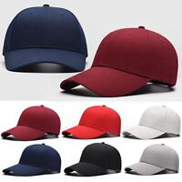 Men&Women Blank Baseball Cap Plain Bboy Snapback Hats Hip-Hop Adjustable NEW Lot