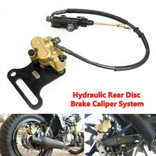 Hydraulic Rear Disc Brake Caliper with Master Cylinder & Brake Pads Brake System