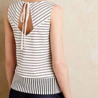 Anthropologie Sunday in Brooklyn XXS Black & White Striped Tank top shirt blouse