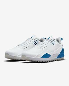 Jordan Golf ADG 3 Size 12 Men's Shoes Brand New W/Box CW7242 101 White Blue