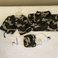 "Teddy Bear U.S. SPECIAL FORCES CAMO Costume CLOTHES Fit 14-18"" Build-a-bear S-6"
