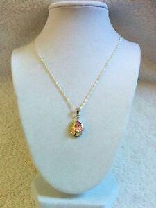 "Artisan 2 ct. Pink Topaz & White fire Opal neck, looks like sea shell New""SALE"""""