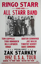 Ringo Starr & his all starr band 1992 Tour Poster