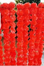 Artificial Marigold Garland red  Home Wedding Decoration Pack Of 5