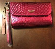 Victoria's Secret Python Tech Clutch Wallet iPhone 6/6s/7•VS Wristlet•NWT