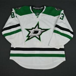 2015-16 Ales Hemsky Dallas Stars Game Used Worn Reebok Hockey Jersey! MeiGray