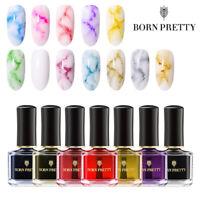 BORN PRETTY 6ml Nail Art Polish Varnish Watercolor Ink Marble Nail Art Tools DIY