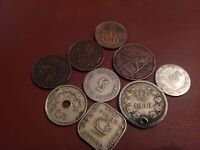 9 rarities in a very good mix ,includes1898 5 centavos Argentina &1911 1 double