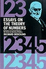 Essays on the Theory of Numbers (Dover Books on Mathematics) by Dedekind, Richa
