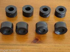 8 Black Plastic Nylon M8 Spacers 18mm O/D 8.2mm I/D x 10mm Long
