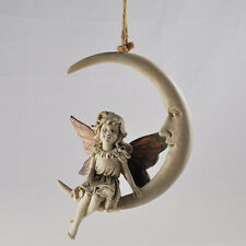Fairy On Moon Dream Catcher Hanging Figurine / Ornament.New & Boxed.39764