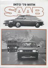 Saab 99 Range GL EMS GLE Turbo 1978-79 Original UK Foldout Sales Brochure