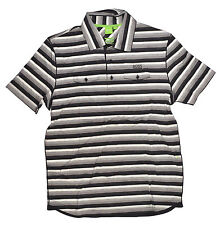 Hugo Boss PATTO Mens Modern Fit Short Sleeve Polo Shirt XL Multi Striped NEW
