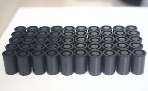 52PCS Empty BLACK bottle 35mm film cans canisters containers