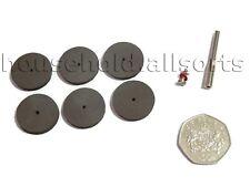 6pc Rubber Polishing Disc Set Dremel Mini Rotary Drill Tool Craft Hobby Model