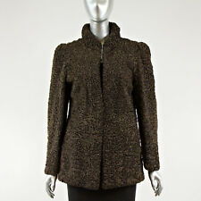 Brown Persian Lamb Fur Jacket - Size XS