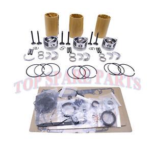 D722 D722EBH D772B Engine Rebuild Kit for Kubota K008-3 K008 Digger& Generator