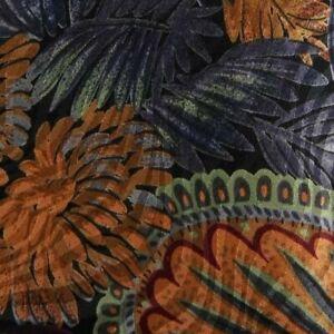 Black Orange Gray Floral PIERRE CARDIN Silk Tie
