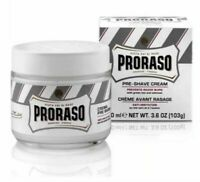 Proraso White Pre Shave Shaving Cream Green Tea Oatmeal Italian 100ml