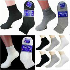 New 9 Pairs Diabetic Ankle Quarter Crew Socks Health Cotton Men Circulatory