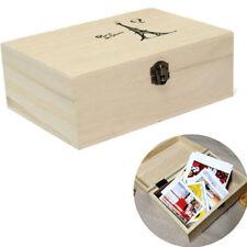 Boîte rangement en bois avec couvercle Lock Home Organizer bijoux artisanat étui