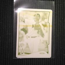 2014 TOPPS ONLINE MINI #369 ERICK AYBAR *PRINTING PLATE #1/1* LOS ANGELES ANGELS