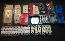 Large Lot Of Unused Leftover Electrical Electric Electrician Supplies
