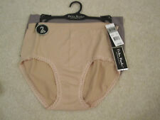 2 pair Delta Burke intimates briefs panties 8/1X new with tags tan grey