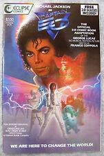 Michael Jackson as Captain EO 1987 Eclipse 3-D Comic Excellent w/ Glasses Attach