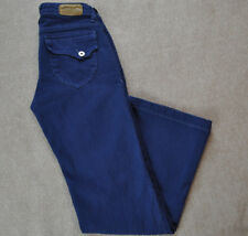 Women's DENIM OF VIRTUE Blue Flare Jeans size 28 26x31 Pocket Flaps Made in USA