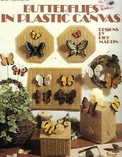 Leisure Arts 1102 Butterflies in Plastic Canvas Leaflet Home Decor Patterns
