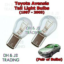 Toyota Avensis Tail Light Bulbs Pair of Rear Tail Light Bulb Lights MK1 (97-03)