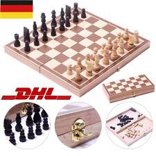 Schachspiel magnetisch Schach Schachbrett Holz 29 cm Chess Board Set Reiseschach