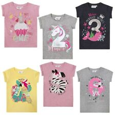 Geburtstag T-Shirt für Mädchen Kinder Einhorn Zebra Kuchen 1 2 3 4 5 6�™� NEU �™�