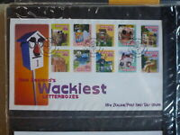 NEW ZEALAND 1997 WACKIEST LETTERBOXES SET 10 STAMPS FDC FIRST DAY COVER