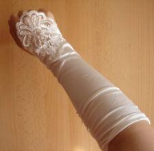 Fingerless White Bridal Wedding Pearl Gloves FREE P&P
