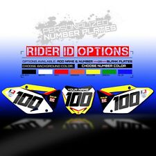 2001 - 2012 RM 125 250 BACKGROUND NUMBER PLATE GRAPHICS KIT MOTOCROSS DECALS