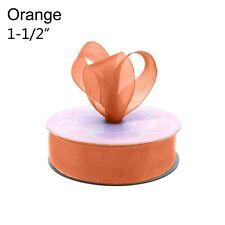 """Shimmer Sheer Organza Ribbon 1-1/2"""" Birthday Wedding Party Gift Crafts Diy"""