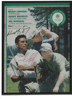 wayne gretzky john elway mario lemieux signed program autographed framed golf
