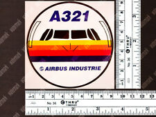 ROUND AIRBUS A321 A 321 FRONT VIEW DIECUT DECAL / STICKER 3.5x3.5in / 9x9cm