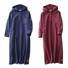 Maternity Skirts Women Pregnant Long Sleeve Dress Hooded Thicken Soft New