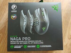 Razer Naga Pro Modular Wireless Gaming Mouse w/ Chroma RGB Interchangeable Plate