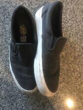 Vans Slip On Men's Size 8 grey herring bone off the wall skateboard skate