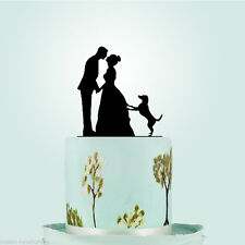 Bride Groom Family Dog Lab Pet Animals Veterinary Wedding Cake Topper Decoration