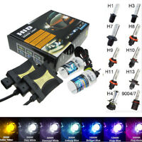 55W HID Conversion Kit Xenon Headlight 9006 HB4 H8/H11 H7 H4 H3 H1 Light Ballast