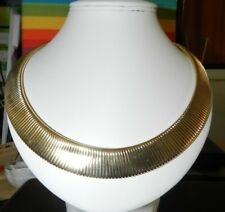 "Gold Plated Brass Collar 19 "" plus extender - Approx140 x 20mm Brand New"