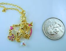 Kirks Folly Cupid's Kiss Angel Chain Necklace  Goldtone  Valentine's Day